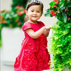 Red Halabaloo Little Girl Dress